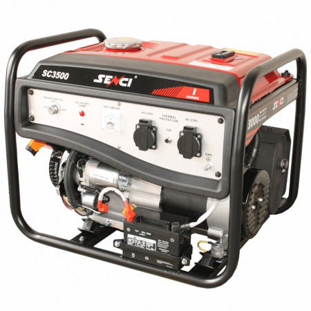 Generator SC-3500E-Lite, Putere maxima 3 kW, 230V, AVR, motor benzina