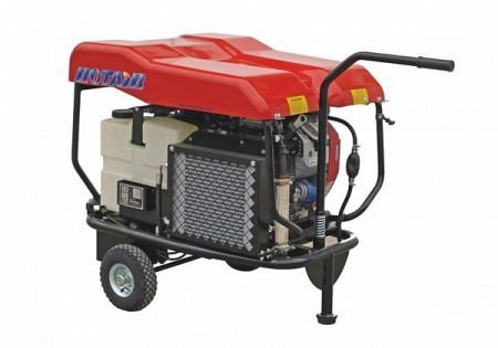 Motocompresor open, fara butelie, ROTAIR VRK 200 AE, debit 950 l/min - 13 bari, motor Honda GX690
