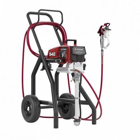 Pompa airless cu piston pentru zugravit TITAN Impact 540, debit material 2.3 l/min., duza max. 0.024″, motor electric 1.2 kW