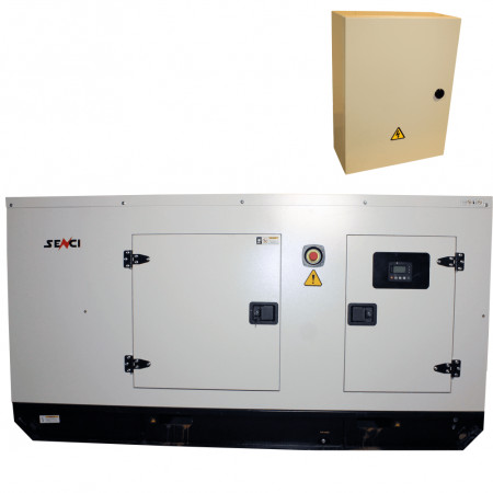 Generator stationar insonorizat SENCI, SCDE 72YS-ATS, 72 kVA, 400V, AVR, motor Diesel