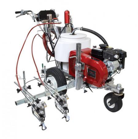 Echipament trasat marcaje rutiere/sportive TITAN PowrLiner 6955, pompa airless cu piston hidraulic viteza trasare 210 m/min., duza max. 0.050″, motor Honda 4.8 cp