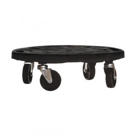 Platforma rotunda din plastic cu roti pentru transport ArtPlast Dolly 400x400x125 mm