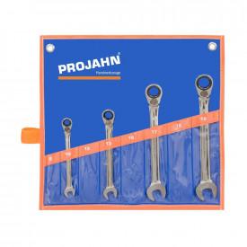 Set chei combinate PROJAH GearTech cu clichet reversibile 4 piese 10-19mm