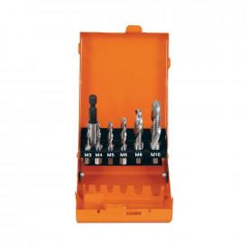 Set de burghie combinate cu filetare HSS-G M3-M10, 7 buc/set