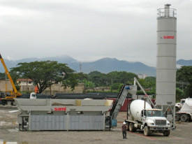 "Statie productie beton cu malaxare in autobetoniera ""TECNO"", marca SAMI, Italia"