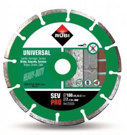 Disc diamantat pt. beton si caramida 180mm, SEV 180 Pro - RUBI-25938