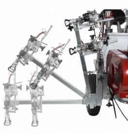 Echipament pentru trasat marcaje rutiere/sportive PowrLiner 4955 pompa airless airless cu piston hidraulic viteza trasare 155 m/min., duza max. 0.038″, motor Honda 3.5 cp