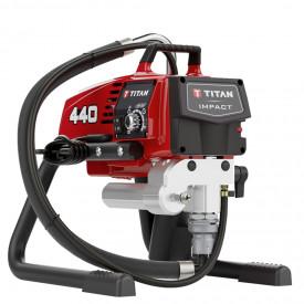 Pompa airless cu piston pentru zugravit TITAN Impact 440, debit material 2.2 l/min., duza max. 0.023″, motor electric 1.0 kW