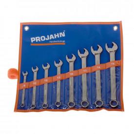 Set de chei fixe si inelare combinate PROJAHN cu clichet Clicktech metrice 8-19 mm 8 buc/set
