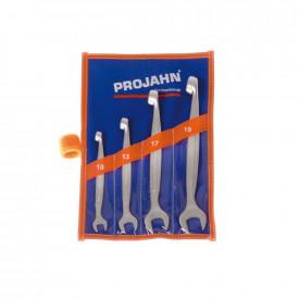 Set de chei fixe si inelare Dolphin rasucite la 90 de grade PROJAHN metrice 10-19 mm 4 buc/set