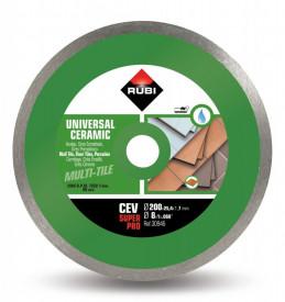 Disc diamantat pt. gresie si faianta 200mm, CEV 200 SuperPro - RUBI-30946