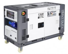 Generator de curent 11 KW diesel - Heavy Duty - insonorizat - Konner & Sohnen - KS-14-2DE-ATSR-Silent