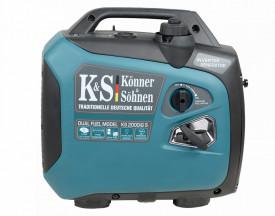Generator de curent 2.0 kW inverter - HIBRID (GPL + benzina) - insonorizat - Konner & Sohnen - KS-2000iG-S