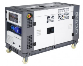 Generator de curent 9 KW diesel - Heavy Duty - insonorizat - Konner & Sohnen - KS-13-2DEW-ATSR-Silent