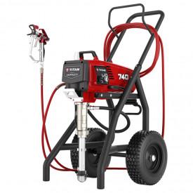 Pompa airless cu piston pentru zugravit TITAN Impact 740, debit material 3.0 l/min., duza max. 0.029″, motor electric 1.4 kW