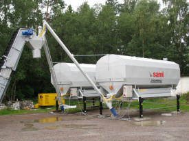 Silozuri mobile de ciment orizontale Eurosilo, marca SAMI, Italia