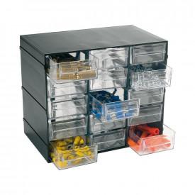 Cutie depozitare ARTPLAST cu 15 sertare transparente 228x140x190mm
