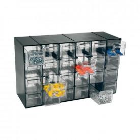 Cutie depozitare ARTPLAST cu 24 sertare transparente 377x142x228mm