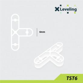 Distantieri tip T ( Teuri ) pt. placi - gresie si faianta - Rost 6 mm - 250 buc - XLEV-TST6-250