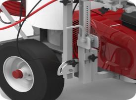 Echipament pentru trasat marcaje rutiere/sportive TITAN PowrLiner 8955, pompa airless cu piston hidraulic, viteza trasare 229 m/min., duza max. 0.054″, motor Honda 6.5 cp