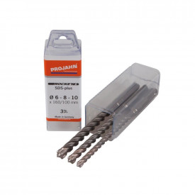 Set burghie beton PROJAHN, 6-8-10 mm SDS-PLUS ROCKET 5, 3 buc/set