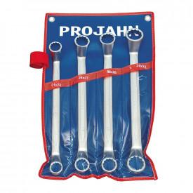Set de chei inelare cotite duble PROJAHN metrice 21-32 mm 4 buc/set in husa