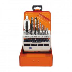 Set de tarozi scurte PROJAHN HSS-G, DIN 352 M3-M12, 15 buc/set