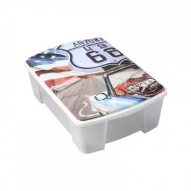 """Cutie depozitare ArtPlast MIOBOX """"ROUTE66"""" cu capac 565x390x180 mm"""