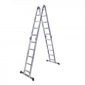 STR405 Scara multifunctionala din aluminiu 4 segmente x 5 trepte, 5.8 m