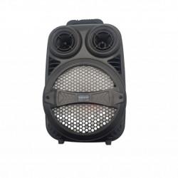 Boxa portabila bluetooth tip troller, difuzor 8 inch cu lumini colorate, claritate si bass