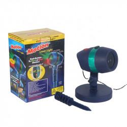 Proiector laser rotativ bicolor pentru exterior cu telecomanda