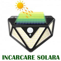 Set 4 lampi solare PREMIUM, 166 LED si senzor de miscare