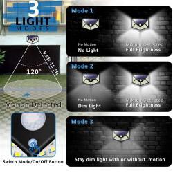 Set 8 Lampi solare 100LED, senzor de miscare