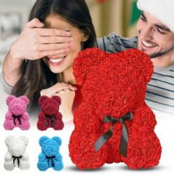 Ursuleti din trandafiri de spuma cu dimensiunea 25 cm