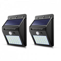 Set 2 x Lampa 30 Led cu incarcare solara si senzor de miscare