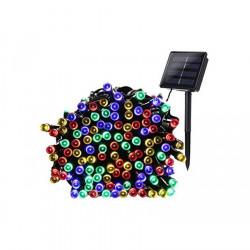 Instalatie multicolora 100 LED-uri, incarcare solara, 9 metri