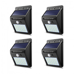 Set 4 x Lampa 30 Led cu incarcare solara si senzor de miscare.