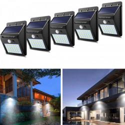 Set 5 x Lampa 30 Led cu incarcare solara si senzor de miscare