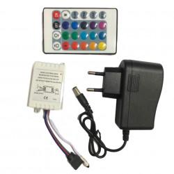Banda RGB LED cu 300 led-uri, 16 culori, telecomanda si joc de lumini multicolore