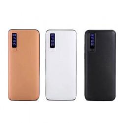 Baterie externa Smart Power Bank 10000 mAh, 3 x USB design piele