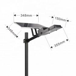 Proiector LED , 60 W cu panou solar , water proof IP65, cu telecomanda si temporizator