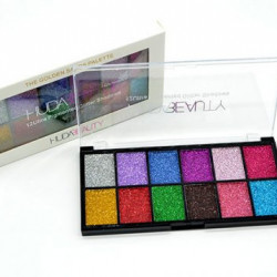Set 12 ultra pigmented glitter shadows