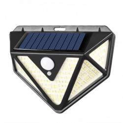 Set 2 lampi solare PREMIUM 166 LED, senzor de miscare