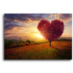 Tablou multicanvas Heart tree