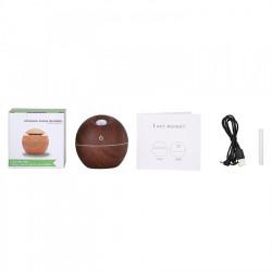 Umidificator sfera, 130ml, LED + ulei aromaterapie cadou