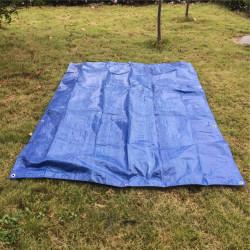 Prelata albastra impermeabila 4m x 5m cu inele , 80gr/m2