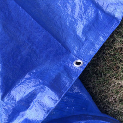 Prelata albastra impermeabila 5m x 6m cu inele , 80gr/m2