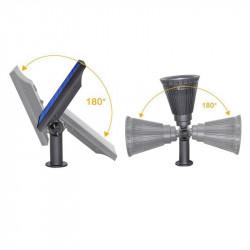 Proiector solar de exterior, cu leduri RGB