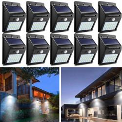 Set 10 x Lampa 30 Led cu incarcare solara si senzor de miscare.