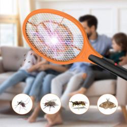 Set 2 x Paleta cu Descarcare Electrica Anti-Insecte, Tantari, Muste, Molii, Incarcare Rapida